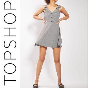 TOPSHOP Gingham Skater Sundress Size 6